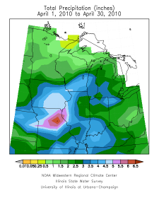 Midwest precipitation for April
