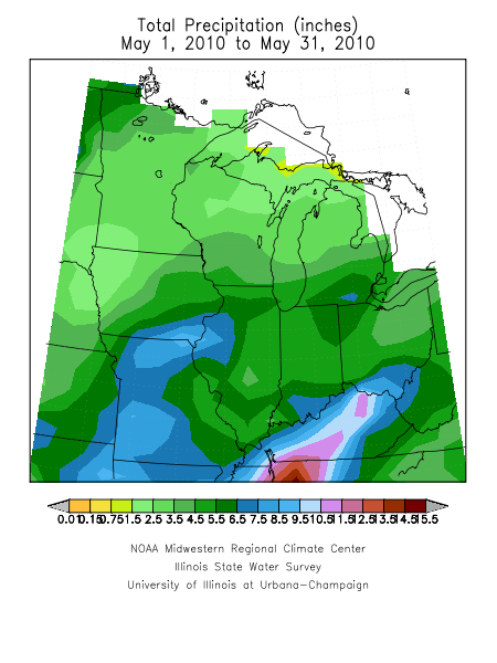 Rainfall for the Midwest.