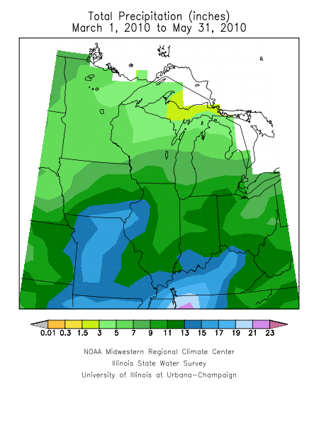 Spring precipitation in the Midwest