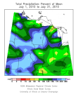 July rainfall departures for the Midwest.