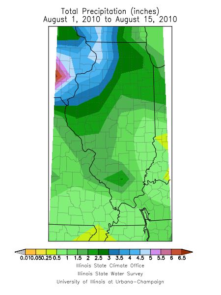 Illinois rainfall map
