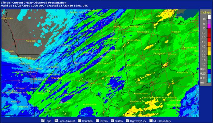 7-day rainfall