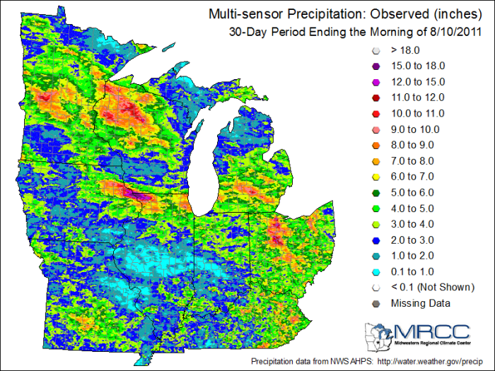 30 day rainfall