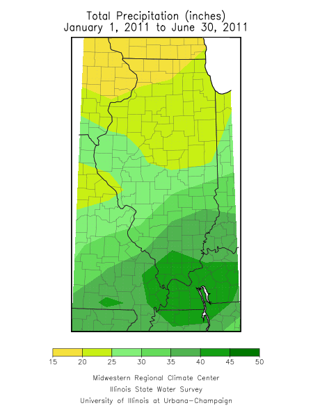 January-June 2011 precipitation