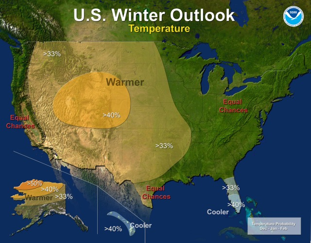 NWS Winter Temperature Outlook.