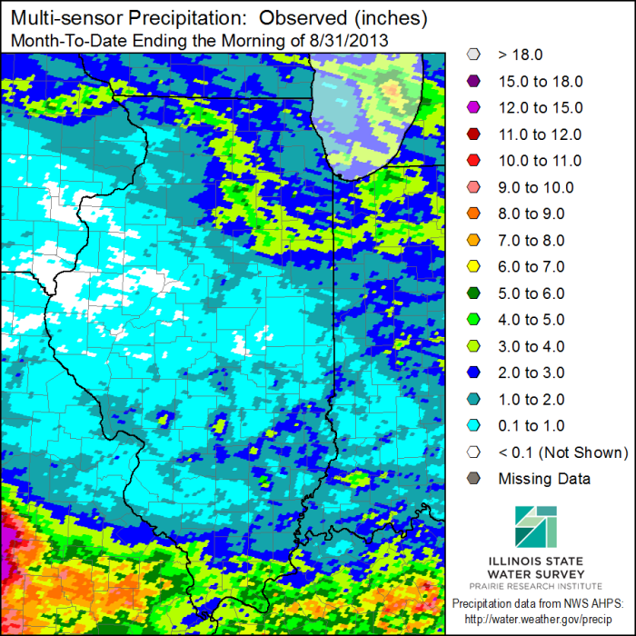 August 2013 Precipitation. Click to enlarge.