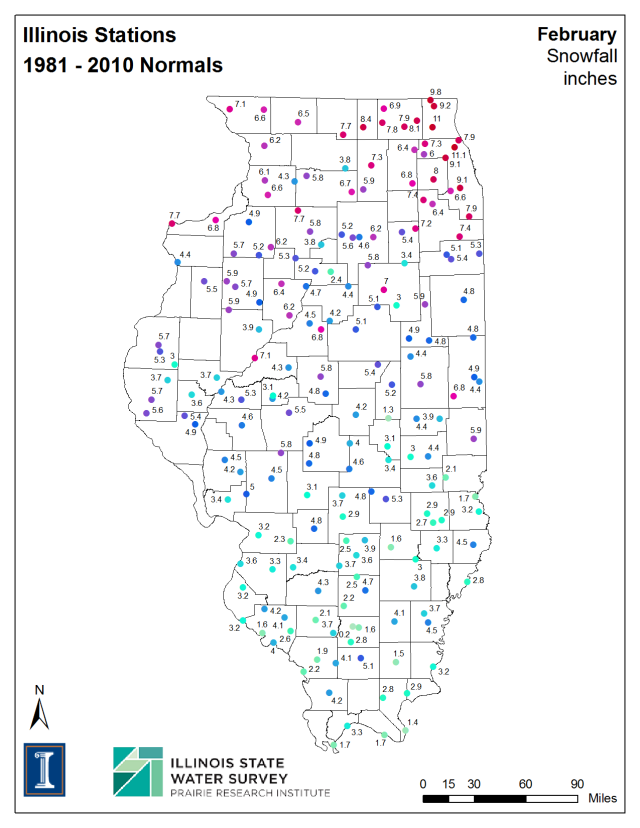 Click to enlarge. Illinois State Climatologist Office.  ISWS.