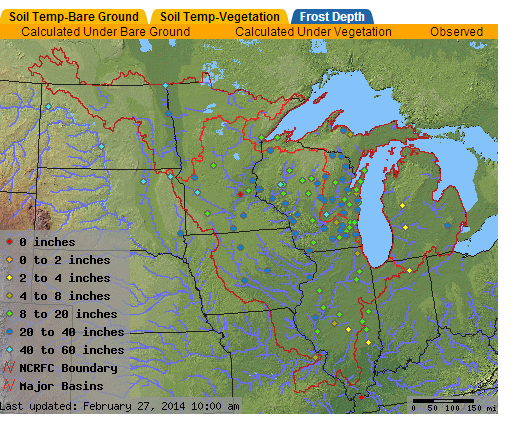 Frost Depth In Illinois Illinois State Climatologist - Frost line map us