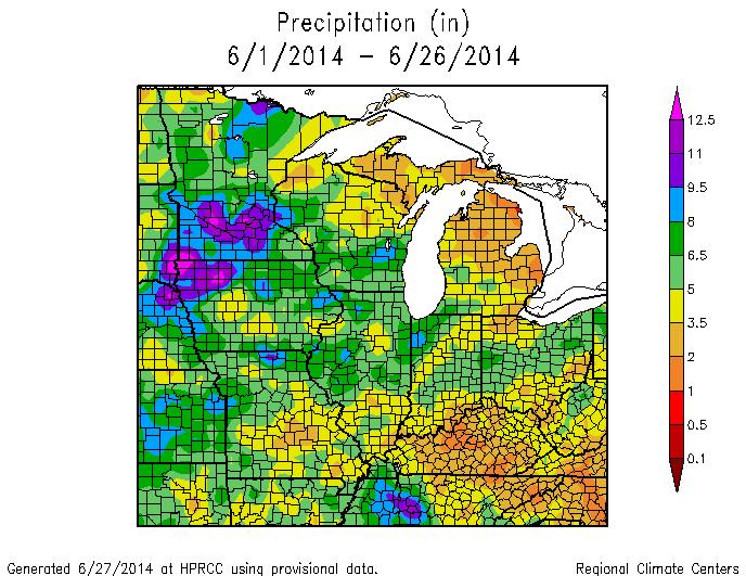 June Illinois State Climatologist - Map of northern illinois