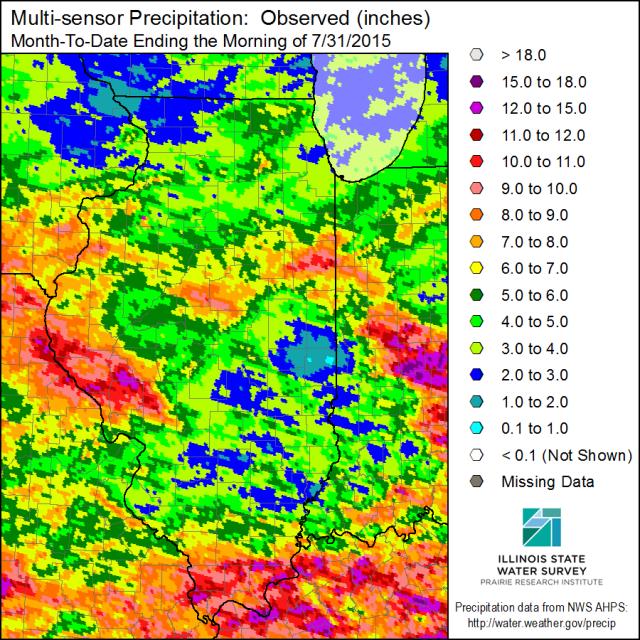 July Precipitation. Click to enlarge.