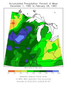 Precipitation departures. Click to enlarge.