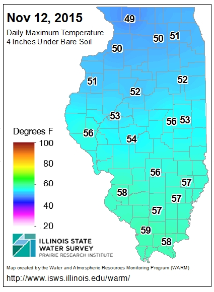 Soil temperatures in illinois waiting for the drop below for Soil temperature map