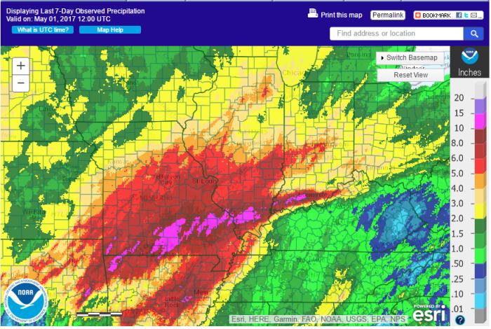 Heavy Rains Over the Last 7 Days in Illinois | Illinois State ... on illinois road work map, illinois watershed map, illinois agriculture map, illinois climate data, illinois tornado map, illinois wind map, illinois precipitation map, illinois schools map, illinois river flooding, illinois flood map, illinois food map, illinois rivers map, illinois temperature map, illinois zoning map, illinois tourism map, illinois earthquake map, illinois weather map, missouri flood risk map, illinois crime map, illinois floodplain map,